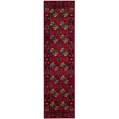 Parthenia Red Area Rug Rug Size: Rectangle 22 X 4