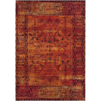 Valenzuela Orange Area Rug Rug Size: Rectangle 9 x 12