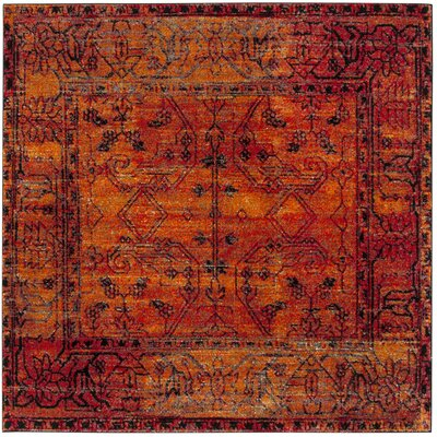 Valenzuela Orange Area Rug Rug Size: Square 67 x 67
