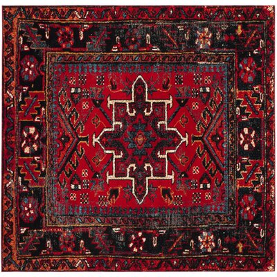 Barrera Red Area Rug Rug Size: 53 x 53 Square