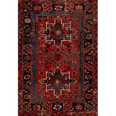 Barrera Red/Black Area Rug Rug Size: Rectangle 106 x 14