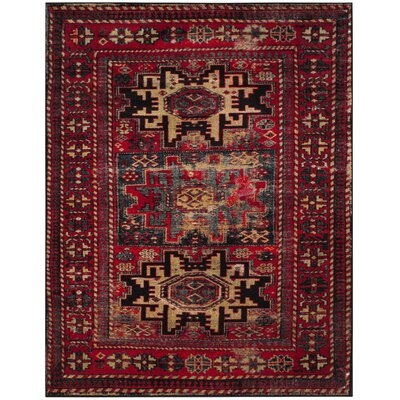 Parthenia Red Area Rug Rug Size: Rectangle 106 x 14