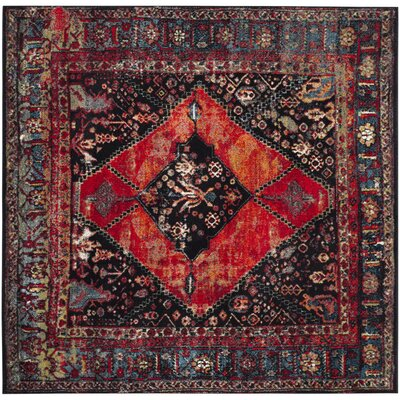 Rangel Orange Area Rug Rug Size: Square 53 x 53