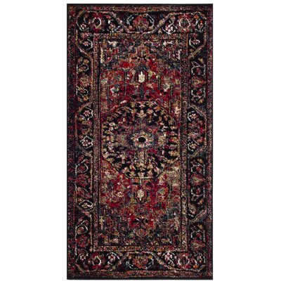Mccall Red/Black Area Rug Rug Size: Rectangle 22 x 4