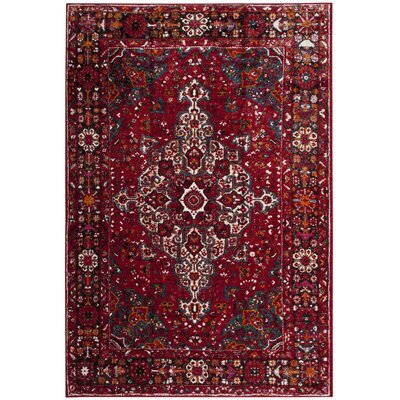 Mcconnell Red Area Rug Rug Size: Rectangle 53 x 76