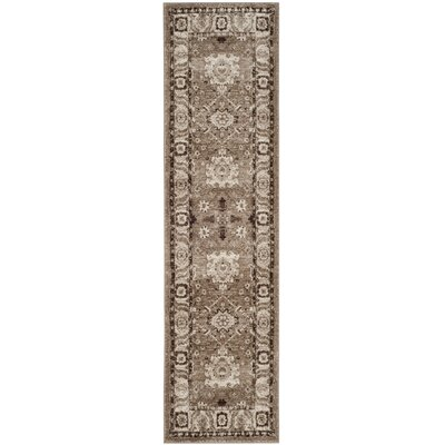 Asheville Taupe Area Rug Rug Size: Runner 22 x 12