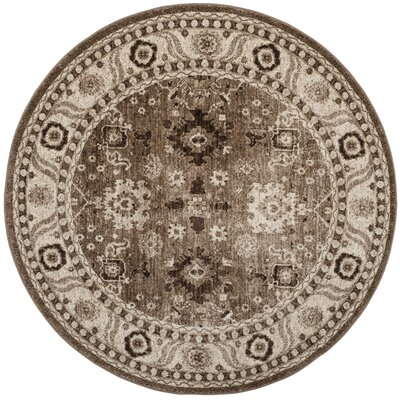 Asheville Taupe Area Rug Rug Size: Round 53