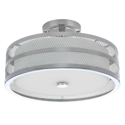 Jeanelle 3-Light Semi Flush Mount