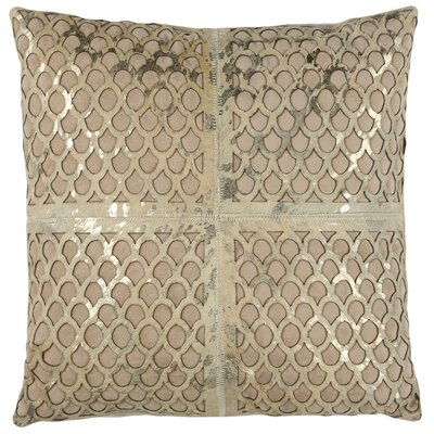 Matangi Metallic Fin Throw Pillow Size: 22 x 22