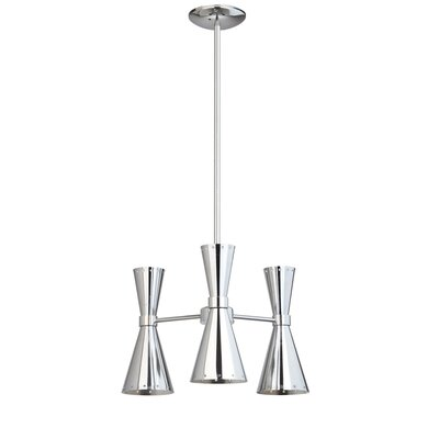 Versailles 3-Light LED Kitchen Island Pendant Finish: Chrome