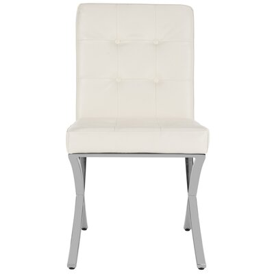 Ouseman Tufted Upholstered Dining Chair Upholstery: White