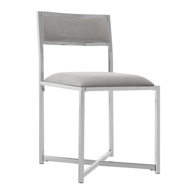Yong Upholstered Dining Chair Upholstery: Gray
