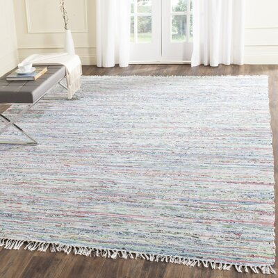 Woodminster Hand Woven Cotton Light Blue Area Rug Rug Size: Rectangle 6 x 9
