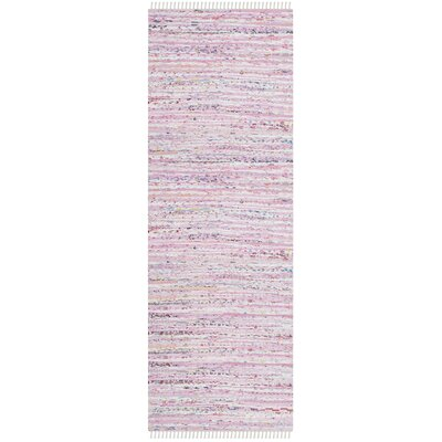 Lansing Hand-Woven Light Pink Area Rug Rug Size: Runner 23 x 8