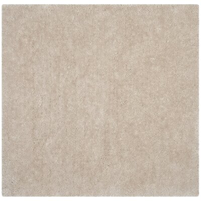 Jayne Shag Hand Woven Bone Area Rug Rug Size: Square 6
