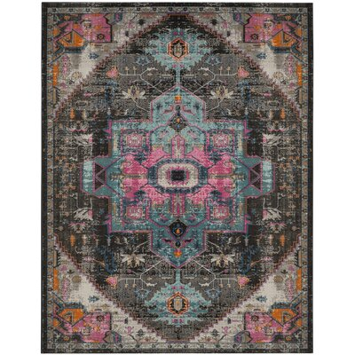 Villanova Black Area Rug Rug Size: Rectangle 9 x 12