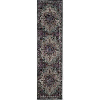 Villanova Light Gray Area Rug Rug Size: Runner 2'2