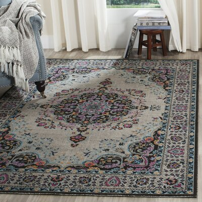 Villanova Light Gray Area Rug Rug Size: Rectangle 67 x 9