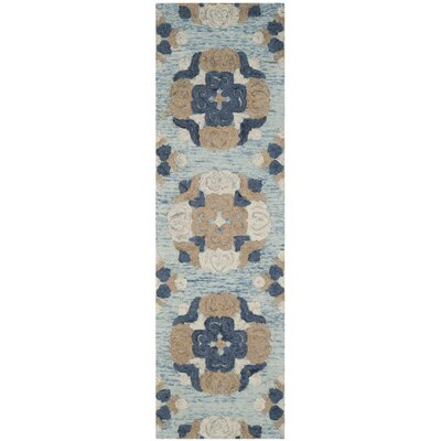 Kilbourne Hand-Tufted Wool Blue/Brown Area Rug Rug Size: Runner 23 x 8