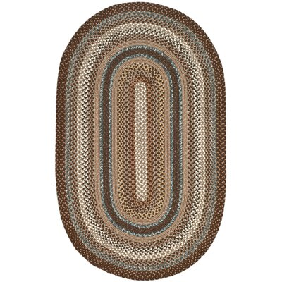 Dorcey Hand-Woven Brown Area Rug