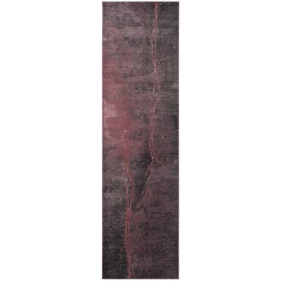 Stave Purple/Gray Area Rug Rug Size: Runner 22 x 8