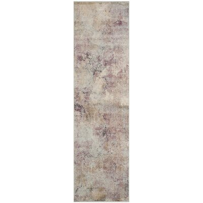 Stave Beige/Multi Area Rug Rug Size: Runner 22 x 8