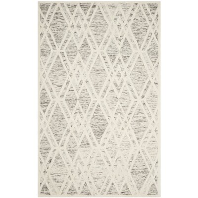 Fleischer Hand-Tufted Wool Light Brown Area Rug Rug Size: Rectangle 5 x 8
