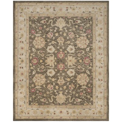Tinley Hand-Tufted Wool Olive Gray Area Rug Rug Size: Rectangle 96 x 136