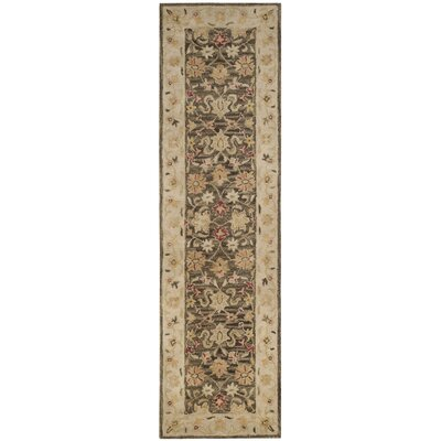 Tinley Hand-Tufted Wool Olive Gray Area Rug Rug Size: Runner 23 x 12