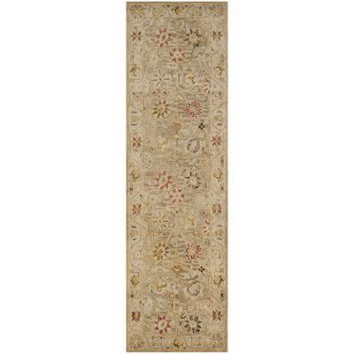Tinley Hand-Tufted Wool Taupe Area Rug Rug Size: Runner 23 x 12
