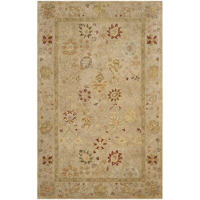 Tinley Hand-Tufted Wool Taupe Area Rug Rug Size: Square 6