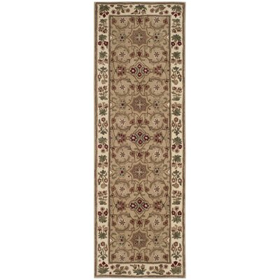 Burruss Hand-Tufted Tan Area Rug Rug Size: Runner 23 x 7