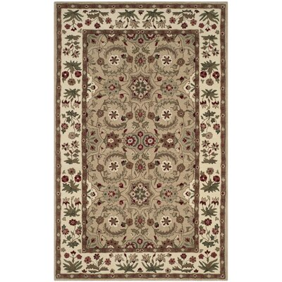 Burruss Hand-Tufted Tan Area Rug Rug Size: Rectangle 5 x 8