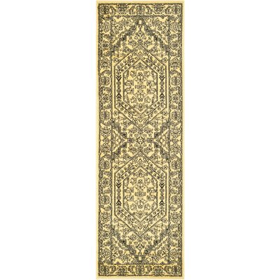 Ischua Gold Area Rug Rug Size: Rectangle 26 x 4