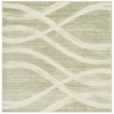 Graciano Beige/Green Area Rug Rug Size: Square 6