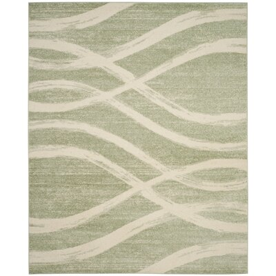 Graciano Beige/Green Area Rug Rug Size: Rectangle 9 x 12