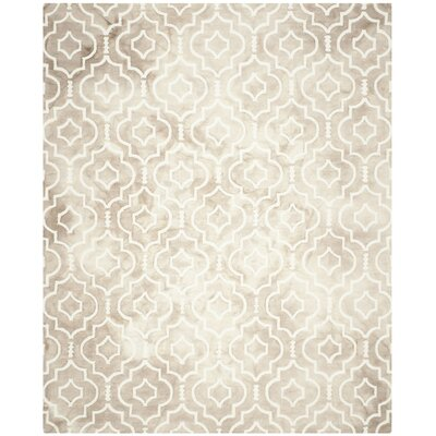 Radner Hand Tufted Wool Beige Area Rug