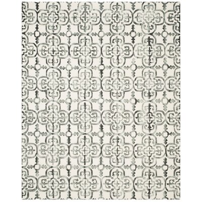 Naples Park Hand Tufted Wool Ivory Area Rug Rug Size: Rectangle 10 x 14