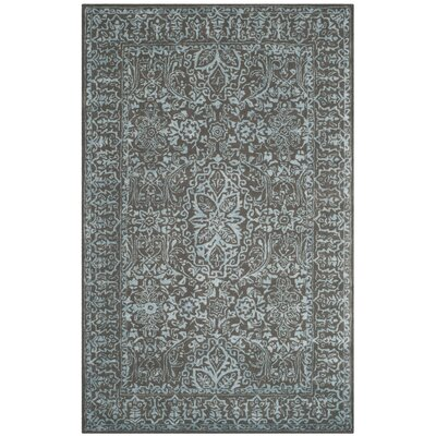 Samaniego Hand-Tufted Wool Dark Gray Area Rug Rug Size: Rectangle 8 x 11