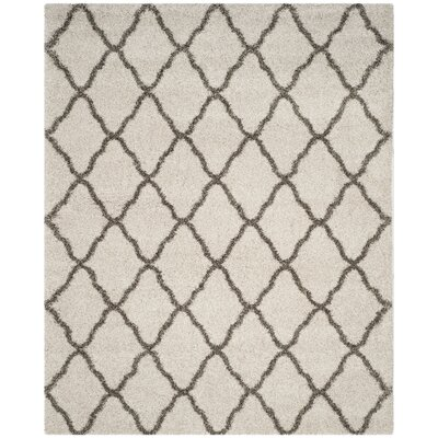 Buford Ivory/Gray Area Rug Rug Size: Rectangle 9 x 12