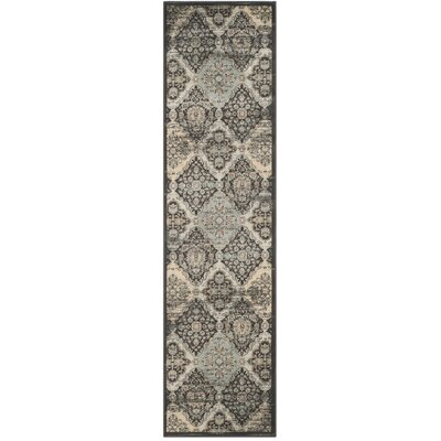 Mainville Runner Black/Ivory Area Rug Rug Size: Runner 22 x 12