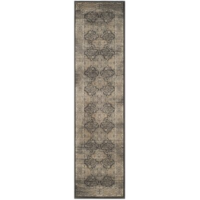 Mainville Black Area Rug Rug Size: Runner 22 x 12