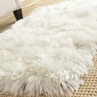 Hamlin Hand-Tufted White Area Rug Rug Size: Rectangle 2 x 3