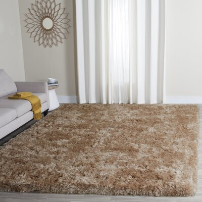 Hamlin Texture Hand-Tufted Brown Area Rug