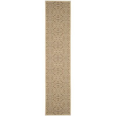 Jefferson Place Natural/Brown Indoor/Outdoor Area Rug Rug Size: Runner 23 x 10