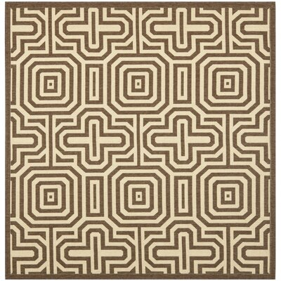 Holcomb Brown Indoor/Outdoor Area Rug Rug Size: Square 67 x 67