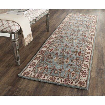 Malone Hand Tufted Wool Blue/Brown Area Rug Rug Size: Runner 23 x 14