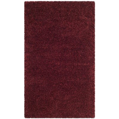 Psyche Shag Maroon Area Rug Rug Size: Rectangle 3 x 5