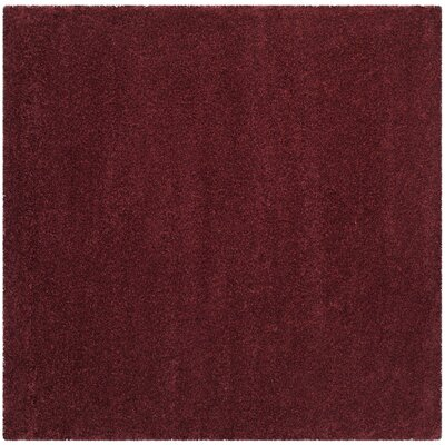 Psyche Shag Maroon Area Rug Rug Size: Square 67 x 67