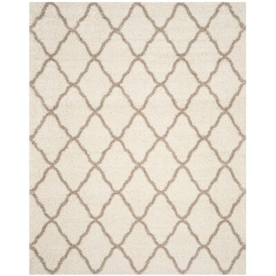 Buford Ivory/Beige Area Rug Rug Size: Rectangle 10 x 14
